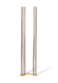 Val Bertoia (American, b. 1949) B-2086 Beryllium-copper rods silvered to brass 56 x 11 x 12 inche