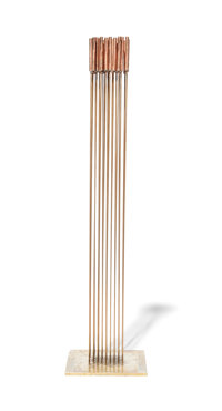 Val Bertoia (American, b. 1949) B-2119 Beryllium-copper rods silvered to brass 41-1/2 x 10 x 9-7/