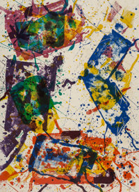 Sam Francis (1923-1994) Untitled, 1982 Lithograph in colors on Arches 88 paper 47-1/2 x 34-1/4 in