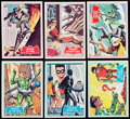 Non-Sport Cards:Sets, 1966 Topps Batman - Red and Blue Bat Complete Sets (2). ...
