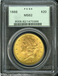 Liberty Double Eagles: , 1888 $20 MS62 PCGS....