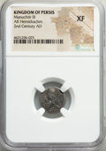 Ancients:Oriental, Ancients: PERSIS KINGDOM. Manuchtir III (2nd century AD). AR hemidrachm (15mm, 11h). NGC XF....