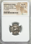Ancients:Oriental, Ancients: PERSIS KINGDOM. Pakor I (1st century AD). AR drachm (21mm, 4.02 gm). NGC Choice AU 4/5 - 4/5....