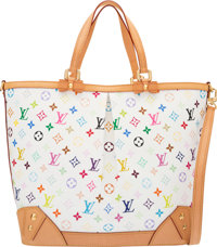 "Louis Vuitton White Monogram Multicolore Sharleen GM Bag Condition: 2 18"" Width x 13"" Height x 7"""