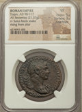 Ancients:Roman Imperial, Ancients: Trajan (AD 98-117). AE sestertius (33mm, 21.37 gm, 7h).NGC VF 5/5 - 3/5, Fine Style....