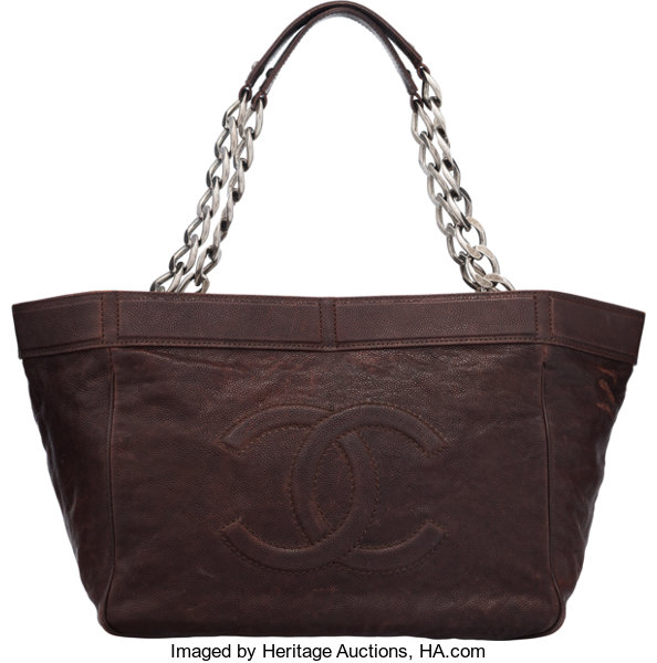 5d256f2f6f47 Condition: 2.11; Luxury Accessories:Bags, Chanel Brown Aged Caviar Leather  Tote Bag.