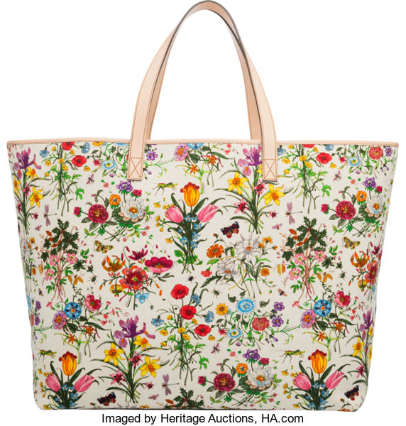 29b2a92fdc25 Luxury Accessories:Bags, Gucci Flora Canvas Large Tote Bag. Condition: 1.