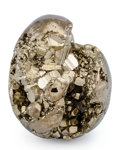 Lapidary Art:Eggs and Spheres, Pyrite Egg. Peru. 3.12 x 2.49 inches (7.93 x 6.32 cm). ...