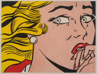 Roy Lichtenstein (1923-1997) Crying Girl, 1963 Offset lithograph in colors on wove paper 17-1/8 x