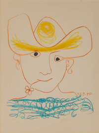 After Pablo Picasso Young Spanish Peasant, 1970 Lithograph in colors on Arches paper 30 x 22 inc