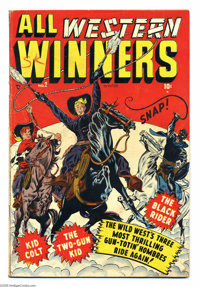 All Western Winners #2 (Marvel, 1948) Condition: VG/FN. Origin and first appearance of Black Rider. Kid Colt and Two-Gun...