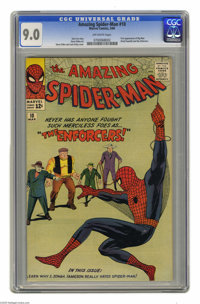The Amazing Spider-Man #10 (Marvel, 1964) CGC VF/NM 9.0 Off-white pages. This early Spidey issue features the first appe...