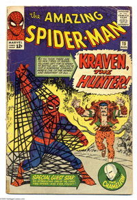 The Amazing Spider-Man #15 (Marvel, 1964) Condition: GD/VG. First appearance of Kraven the Hunter. First mention of Mary...
