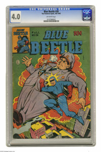 Blue Beetle #39 (Fox Features Syndicate, 1945) CGC VG 4.0 Off-white pages. Overstreet 2004 VG 4.0 value = $54. CGC censu...