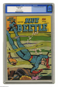 Blue Beetle #40 (Fox Features Syndicate, 1945) CGC FN 6.0 Cream to off-white pages. Overstreet 2004 FN 6.0 value = $81...