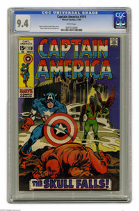 Captain America #119 (Marvel, 1969) CGC NM 9.4 White pages. Red Skull cover and story. Gene Colan cover. Colan and Joe S...