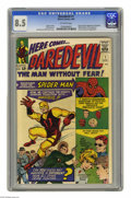 Daredevil #1 (Marvel, 1964) CGC VF+ 8.5 Off-white pages. Appearances by Spider-Man and the Fantastic Four bring a little...