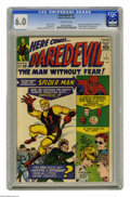 Silver Age (1956-1969):Superhero, Daredevil #1 (Marvel, 1964) CGC FN 6.0 Off-white pages. Marvel had to know they had a hit on their hands with this character...