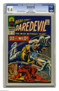 Daredevil #23 (Marvel, 1966) CGC NM 9.4 White pages. Gladiator and Masked Marauder appearance. Gene Colan cover. Colan a...
