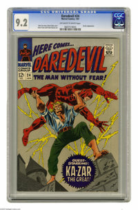 Daredevil #24 (Marvel, 1967) CGC NM- 9.2 Off-white to white pages. Ka-Zar appearance. Gene Colan cover and art. Overstre...