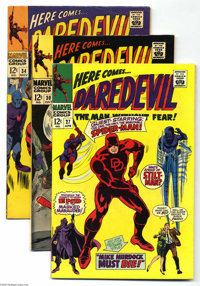 Daredevil Group (Marvel, 1967-68). This group consists of four comics: #27 (VF+); 30 (FN/VF); 34 (FN+); and 41 (FN+) (de...