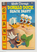Golden Age (1938-1955):Funny Animal, Dell Giant Comics Donald Duck Beach Party #2 (Dell, 1955)Condition: VF. Lady and the Tramp; Uncle Scrooge; Huey, Dewey and...