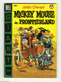 Dell Giant Comics Mickey Mouse in Frontierland (Dell, 1956) Condition: VF. Mickey Mouse Club issue. Overstreet 2004 VF 8...