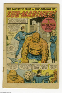 Fantastic Four #4 (Marvel, 1962) Condition: Coverless. First Silver Age appearance of the Sub-Mariner. Jack Kirby cover...
