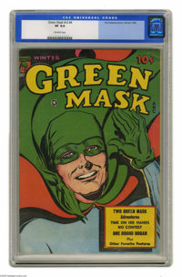 Green Mask V2#4 (Fox Features Syndicate, 1945) CGC VF 8.0 Off-white pages. Overstreet 2004 VF 8.0 value = $118. CGC cens...
