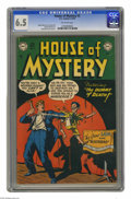 Golden Age (1938-1955):Horror, House of Mystery #3 (DC, 1952) CGC FN+ 6.5 Off-white pages. BobBrown cover art. Curt Swan, George Roussos, and Ruben Moreir...