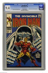 Iron Man #8 (Marvel, 1968) CGC NM 9.4 Off-white pages. Gladiator and Count Nefaria appearance. George Tuska cover. Tuska...
