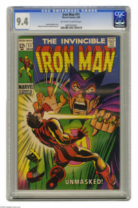 Iron Man #11 (Marvel, 1969) Condition: CGC NM 9.4 Off-white to white pages. Mandarin appearance. George Tuska and Johnny...