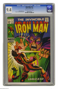Iron Man #11 (Marvel, 1969) CGC NM 9.4 Off-white to white pages. George Tuska and Johnny Craig art. Overstreet 2004 NM-...