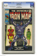 Silver Age (1956-1969):Superhero, Iron Man #12 (Marvel, 1969) Condition: CGC VF 8.0 Cream to off-white pages. First appearance of the Controller. George Tuska...