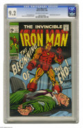 Silver Age (1956-1969):Superhero, Iron Man #17 (Marvel, 1969) Condition: CGC NM- 9.2 Off-white to white pages. Madame Masque appearance. George Tuska and John...