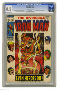 Silver Age (1956-1969):Superhero, Iron Man #18 (Marvel, 1969) Condition: CGC VF+ 8.5 Off-white to white pages. Avengers and Nick Fury appearance. George Tuska...