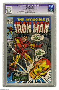 Iron Man #21 (Marvel, 1970) Condition: CGC Apparent NM- 9.2 Slight (A) Off-white to white pages. George Tuska and Joe Ga...