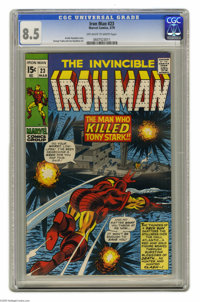 Iron Man #23 (Marvel, 1970) Condition: CGC VF+ 8.5 Off-white to white pages. George Tuska and Joe Gaudioso art. Overstre...