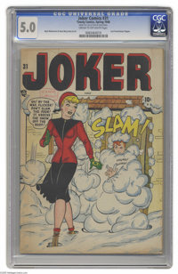 Joker Comics #31 (Timely, 1948) CGC VG/FN 5.0 Cream to off-white pages. Last Powerhouse Pepper. Basil Wolverton and Dave...