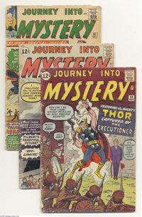 Journey Into Mystery #84, 85, and 97 Group (Marvel, 1962-63) Condition: Average GD. This group consists of three comics:...