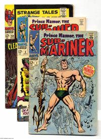 Marvel Silver Age Group (Marvel, 1965-68) Condition: VG. This group includes Sub-Mariner #1 and 3; Strange Tales #15...