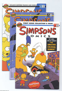 Miscellaneous Modern Age Comics Group (Various Publishers, 1986-95). This group includes Simpsons Comics #1, 2, and 4;...