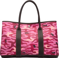 Hermès Customized Pink Camouflage Garden Party MM Bag H Square, 2004 Condition: 3 1