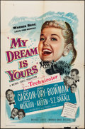 "Movie Posters:Musical, My Dream Is Yours (Warner Brothers, 1949). Folded, Fine/Very Fine. One Sheet (27"" X 41"") & Lobby Card Set of 8 (11"" X 14""). ... (Total: 9 Items)"