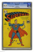 Golden Age (1938-1955):Superhero, Superman #11 (DC, 1940) CGC FN+ 6.5 Off-white pages. Outstanding cover art from Fred Ray. Contains a Jerry Siegel story. Leo...