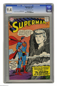 """Superman #194 (DC, 1967) CGC NM 9.4 Off-white to white pages. Features part 3 of the imaginary story """"The Death of..."""