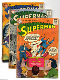 Superman Group (DC, 1957-63) Condition: Average FR/GD. This lot consists of issues #111, 117, 121, 123 (pre-Supergirl tr...