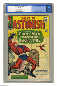 Tales to Astonish #53 (Marvel, 1964) CGC VF 8.0 Cream to off-white pages. Origin of Colossus. Jack Kirby cover. Dick Aye...