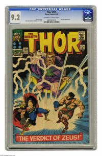Thor #129 (Marvel, 1966) CGC NM- 9.2 Off-white to white pages. Hercules appearance. Jack Kirby and Vince Colletta cover...