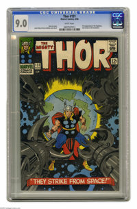 Thor #131 (Marvel, 1966) CGC VF/NM 9.0 White pages. First appearance of the Rigellians, also known as the Colonizers. Ja...